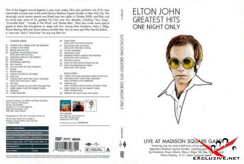Elton John - One Night Only The Greatest Hits Live at Madison Square Garden DVD