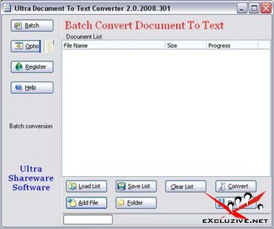 Portable Ultra Document To Text Converter 2.0.2008.301