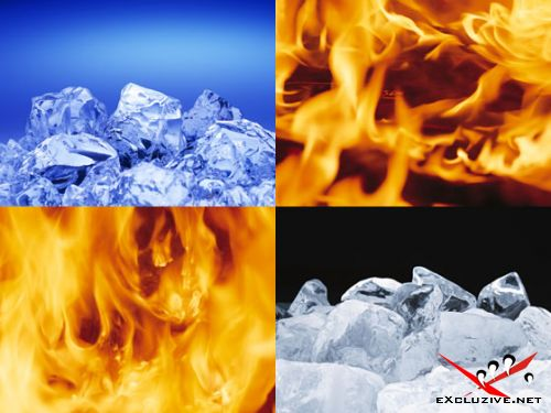 Обои. Огонь и лёд.