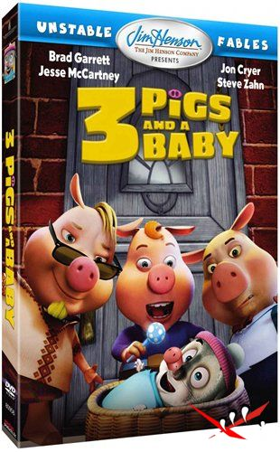 Изменчивые басни: 3 поросенка и ребенок / Unstable Fables: 3 Pigs and a Baby (2008) DVDRip