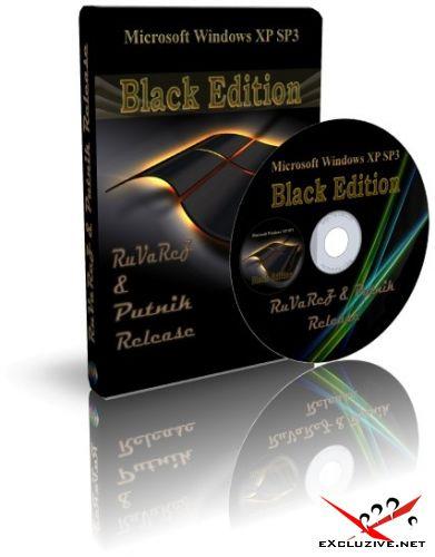 Windows XP SP3 BLACK EDITION CLASSICE RUSSIAN Ruvarez&Secmac Putnik Release 3.6.8