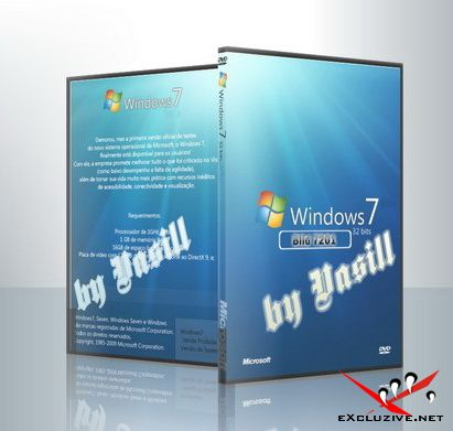 Windows 7 Build 7201.0.090601-1516 x86 IDX (RC2) EN/RU (by vasill) + Lite