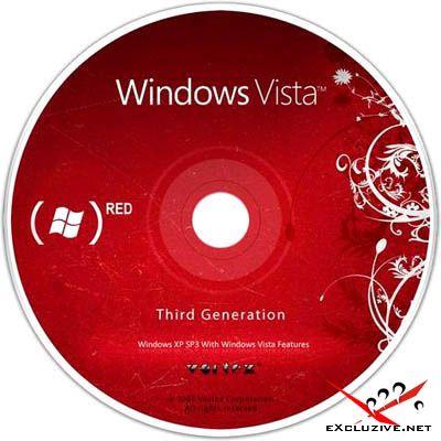 Windows Vortex Vista 3G Red 2009 Live DVD Edition