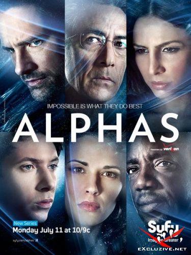 Псионики / Люди Альфа / Alphas (1 сезон/2011/HDTVRip/WEBDLRip)