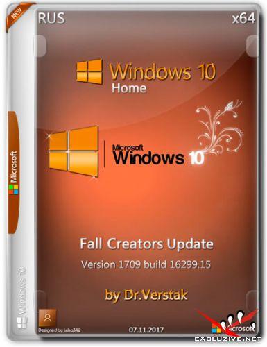 Wіndоws 10 Home Fall x64 Vеr.1709.16299.15 by Dr.Verstak (RUS/2017)