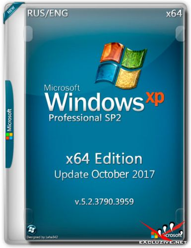Windows XP Pro SP2 x64 Edition 5.2.3790 Update Oct2017 (RUS/ENG)