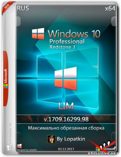 Windows 10 Pro x64 RS3 1709.16299.98 LIM (RUS/2017)