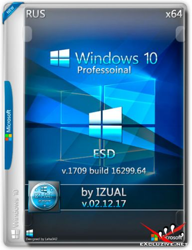 Windows 10 Pro x64 1709 by IZUAL v.02.12.17 ESD (RUS/2017)