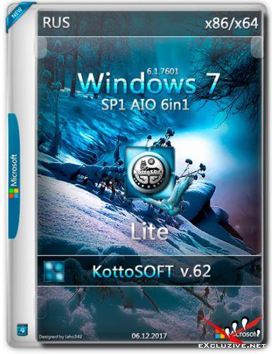 Windows 7 SP1 x86/x64 6in1 Lite KottoSOFT v.62 (RUS/2017)