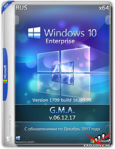 Windows 10 Enterprise x64 RS3 G.M.A. v.06.12.17 (RUS/2017)