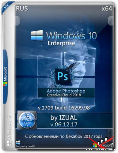 Windows 10 Enterprise x64 1709 Photoshop CC 2018 by IZUAL v.06.12.17 (RUS/2017)