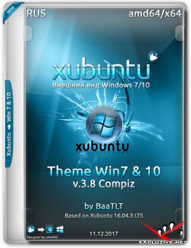 Xubuntu 16.04 x64 Theme Win7/10 v.3.8 Compiz (RUS/2017)