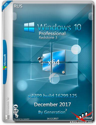 Windows 10 Pro x64 RS3 16299.125 Dec 2017 by Generation2 (RUS)