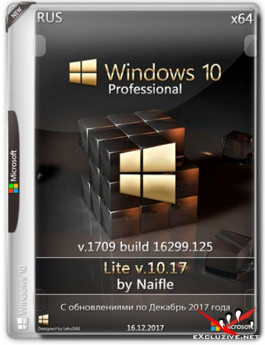 Windows 10 Pro x64 16299.125 Lite v.10.17 by Naifle (RUS/2017)