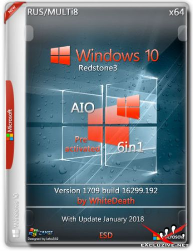 Windows 10 x64 RS3 6in1 v.1709.16299.192 by White Death (RUS/MULTi8/2018)