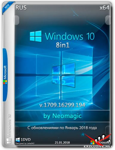 Windows 10 x64 8in1 v.1709.16299.194 by Neomagic (RUS/2018)