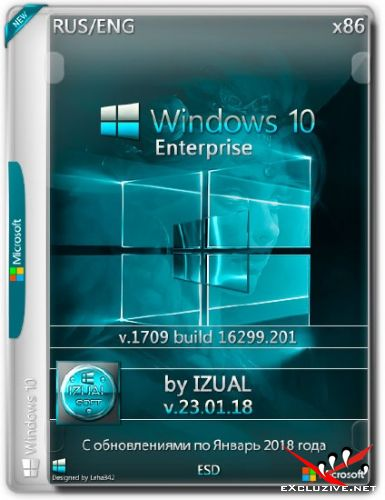 Windows 10 Enterprise x86 1709.16299.201 by IZUAL v.23.01.18 (RUS/ENG/2018)