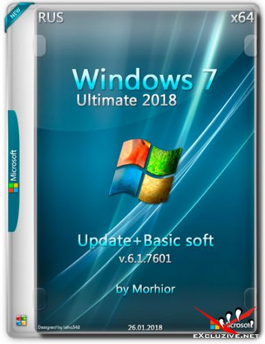 Windows 7 Ultimate 2018 Update + Basic soft by Morhior (RUS/2018)