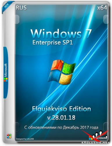 Windows 7 Enterprise SP1 x64 Elgujakviso Edition v.28.01.18 (RUS/2018)