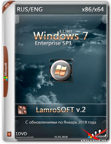 Windows 7 Enterprise x86/x64 LamroSOFT v.2 (RUS/ENG/2018)