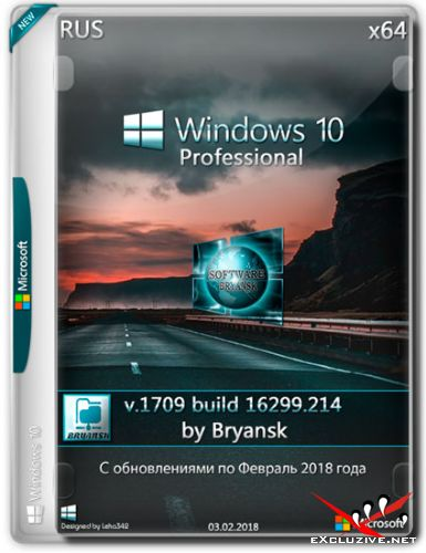 Windows 10 Professional x64 v.1709.16299.214 Bryansk (RUS/2018)
