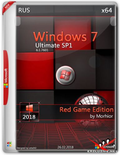 Windows 7 Ultimate SP1 x64 2018 Red Game Edition by Morhior (RUS)