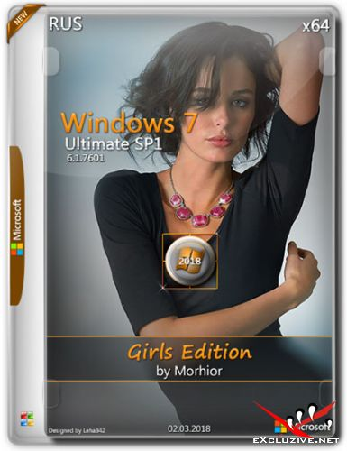 Windows 7 Ultimate SP1 x64 Girls Edition by Morhior (RUS/2018)
