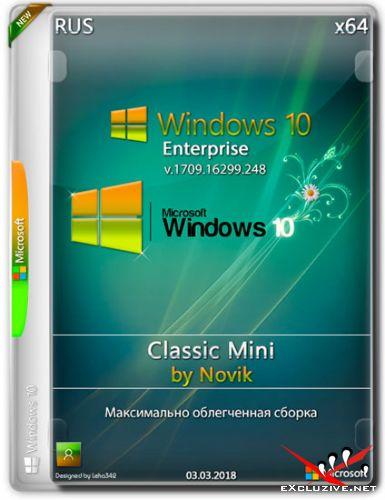 Windows 10 Enterprise x64 v.1709.16299.248 Classic Mini by Novik (RUS/2018)