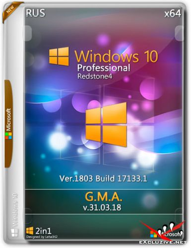 Windows 10 Professional RS4 x64 RUS G.M.A. v.31.03.18 (RUS/2018)