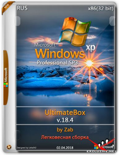 Windows XP Pro SP3 x86 UltimateBox v.18.4 by Zab (RUS/2018)