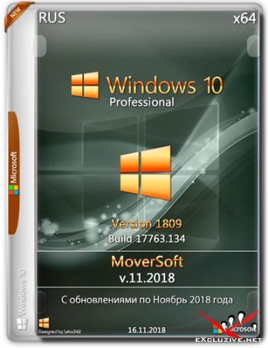 Windows 10 Professional x64 1809 MoverSoft v.11.2018 (RUS)