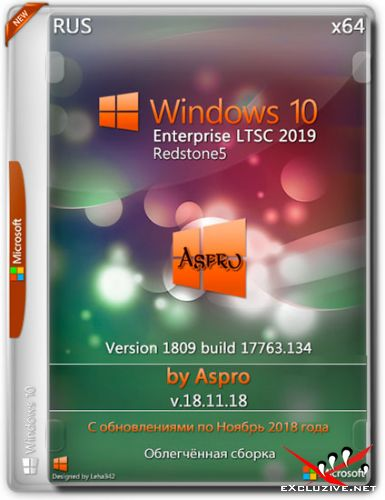 Windows 10 Enterprise LTSC x64 1809 v.18.11.18 by Aspro (RUS/2018)
