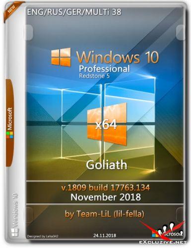 Windows 10 Pro x64 1809 Goliath November 2018 Team-lil (Multi-38/RUS)