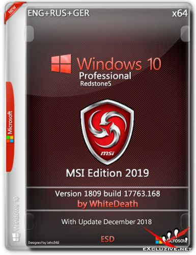 Windows 10 Pro x64 MSI Edition by WhiteDeath (ENG+RUS+GER/2018)