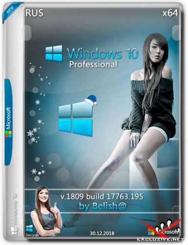 Windows 10 x64 Pro 1809.17763.195 by Bellish@ (RUS/2018)