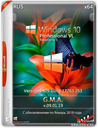 Windows 10 Pro VL RS5 1809.17763.253 x64 G.M.A. v.09.01.19 (RUS/2019)