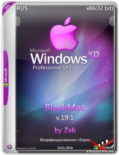Windows XP Professional SP3 x86 BlackMac v.19.1 by Zab (RUS/2019)