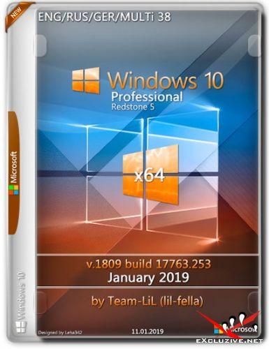 Windows 10 Pro x64 v.1809.17763.253 January 2019 Team-lil (Multi-38/RUS)