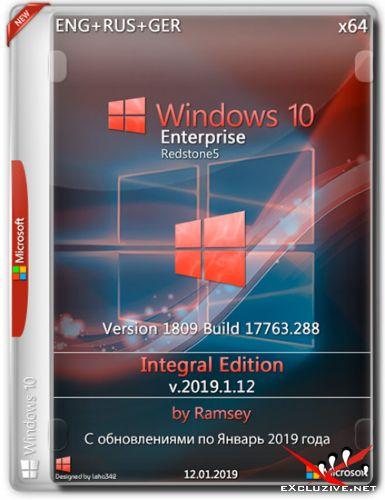 Windows 10 Enterprise x64 1809 Integral Edition v.2019.1.12 (ENG+RUS+GER)