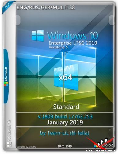 Windows 10 Enterprise LTSC x64 v.1809 Standard Jan 2019 Team-lil (Multi-38/RUS)