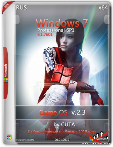 Windows 7 Professional x64 Game OS v.2.3 by CUTA (RUS/2019)