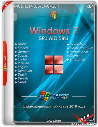 Windows 7 x64 AIO 5in1 Jan2019 by TEAM OS (MULTi11/ENG/RUS)