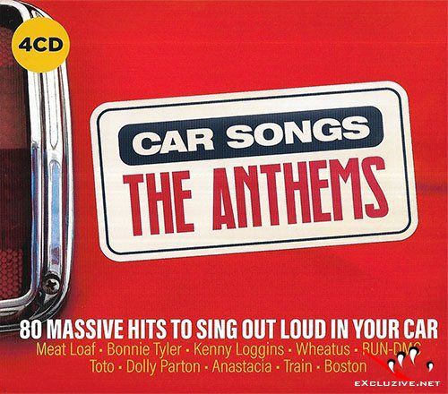 Car Songs The Anthems (4CD, 2019)