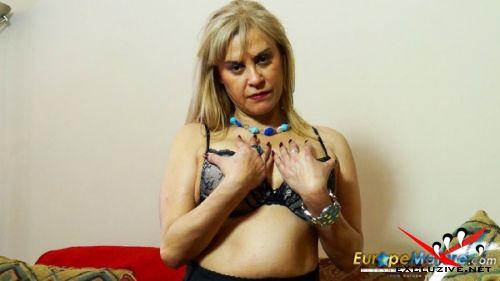 Ruby - Latin mature UK exhibitionist Ruby masturbating with dildo (2019/HD)