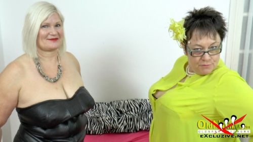 Lacey Starr, Honey - Two old british bit tit lesbians Lacey Starr and Honey (2019/HD)