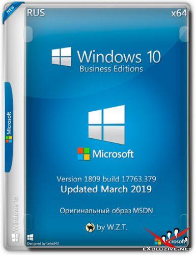 Windows 10 BE v.1809 x64 Updated March 2019 by W.Z.T. - Оригинальный образ от Microsoft (RUS)