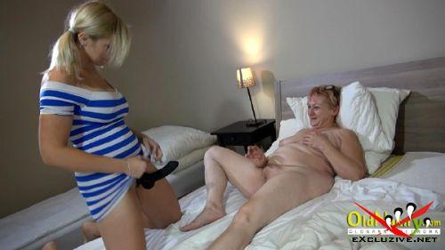 Bernadett, Radka - Young big tit blonde brings mature woman to orgasm (2019/HD)