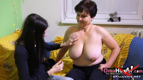 SandraG, Brigita - Granny hunter girl just arrived at women (2019/HD)