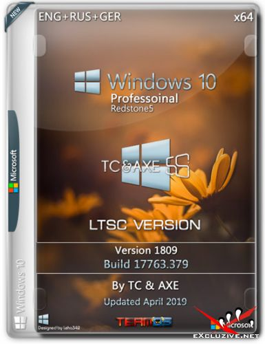Windows 10 Pro x64 1809 LTSC Version by TC&AXE (ENG+RUS+GER/2019)
