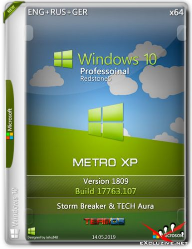 Windows 10 Pro x64 RS5 1809 Metro XP by Storm Breaker & TECH Aura (ENG+RUS+GER)